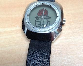 Political mechanical watch PS Socialist Mitterrand 1981 presidential election