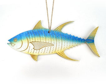 Yellowfin Tuna Christmas Ornament