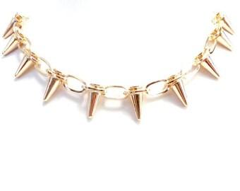 Spike Link Necklace, Fashion Necklace, Statement Jewellery, Statement Womens Necklace, Chain Necklace, Fashion Jewellery