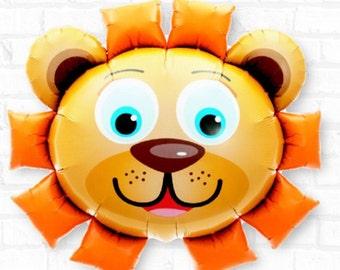 """Lion Balloons, 28"""", Animal Balloons, Animal, Hippo, Panda, Safari Party, Jungle, Zoo, Circus Party, Panda Balloon, Lion, Hippo, Balloons"""