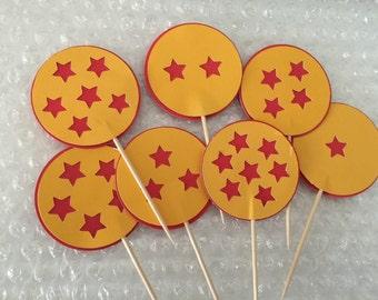 Dragon ball z cupcake toppers (12pc)