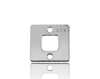 Charm/Connector Square Silver 925