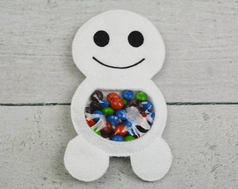 Large Snowman Candy Pouch
