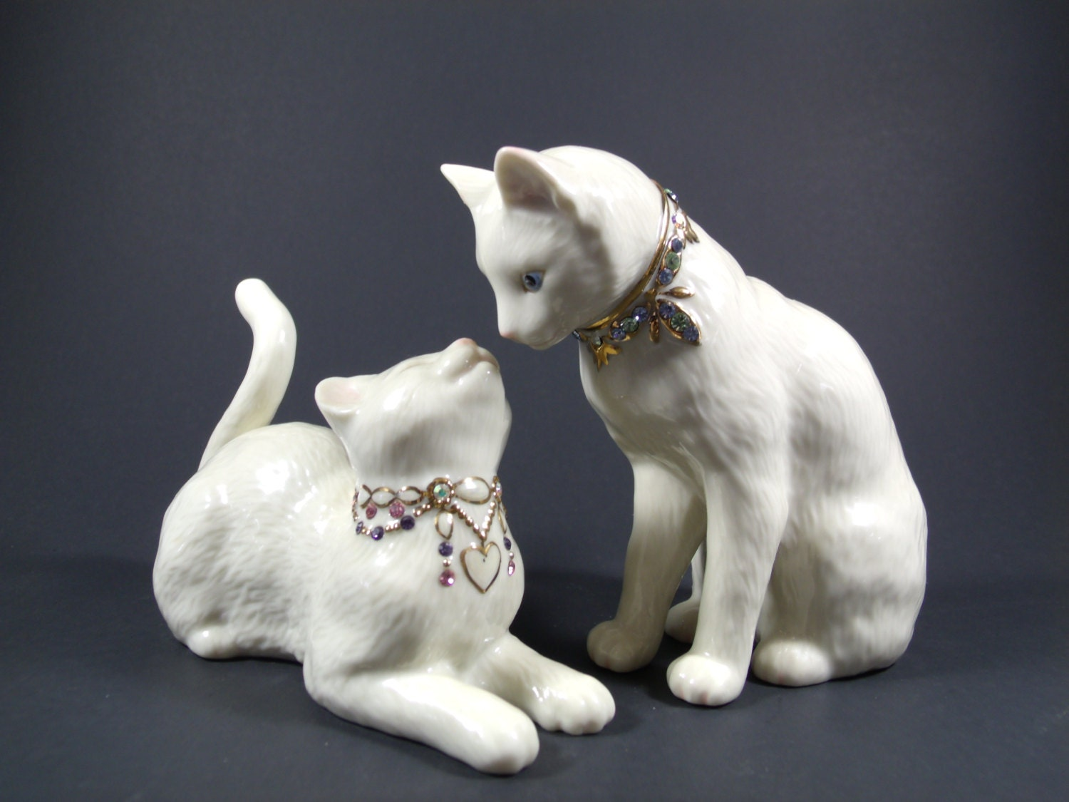 Lenox Wedding Gifts: Vintage Lenox Cat Figurines Awake To A Kiss Wedding Gift