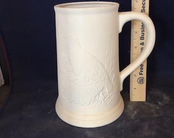 Ceramic Bisque Quail Stein-Rady to Paint