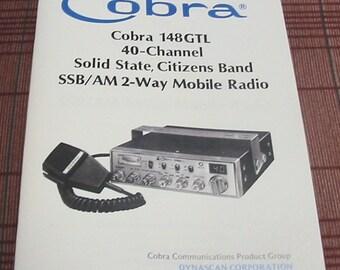 Cobra 148GTL AM/SSB CB Radio Owners Manual w/schematics