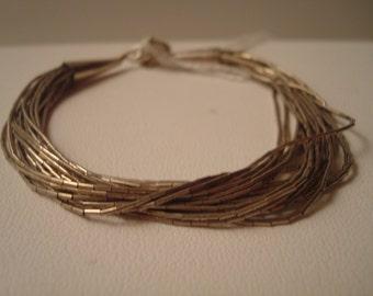 Vintage southwestern liquid silver bracelet