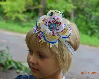 Girls hair bows Frozen Hair bows Stacked Hair Bow Big hair bows Boutique hair bows  Girl hair accessory Headband Stacked hair bow