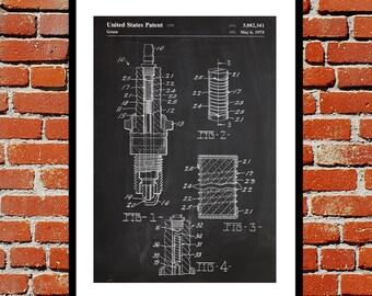 Spark Plug Print, Spark Plug Poster, Spark Plug Patent, Spark Plug Art, Spark Plug Decor, Spark Plug Wall Art, Spark Plug Blueprint
