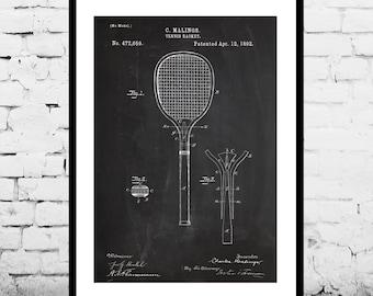 Tennis Racket Print, Tennis Racket Patent, Tennis Racket Poster, Tennis Racket Blueprint, Tennis Racket Art, Tennis Racket Decor