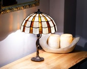 Library Lights Reading Lamp Desk Lamp Table Lamp Stained Glass Lamp Home Decor Vintage Lamps Vintage Lamp Nightstand Lamp