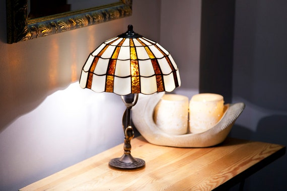 Library Lights, Reading Lamp, Desk Lamp, Table Lamp, Stained Glass Lamp, Home Decor, Vintage Lamps, Vintage Lamp, Nightstand Lamp