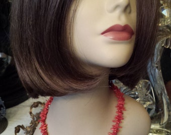 One strand necklace branch coral