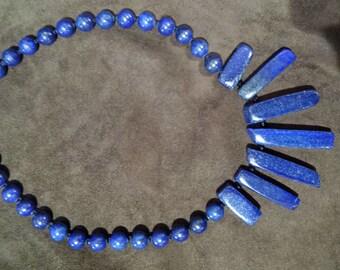 blue lapiz necklace