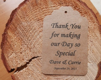 Custom Wedding Thank You  favor tags set of 40  Personalized Wedding tags Wedding gift tags paper tags  Bridal Thank You tags