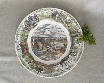 Wedgwood Yorktown, Virginia Decorative Plate, Williamsburg Commemorative Plate, Made in England