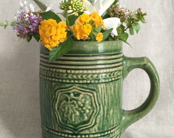 Green McCoy Mug or Stein, Stoneware