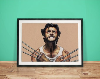 Wolverine Drawing, X-MEN - Fine Art Print - A4