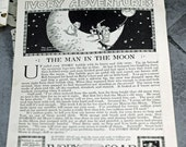 1916 Man in the Moon for Ivory Soap Advertisement, Adorable Add, Wonderful Ad Copy, Great Artwork  #399  ok