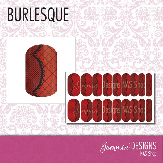 Burlesque NAS (Nail Art Studio) Design
