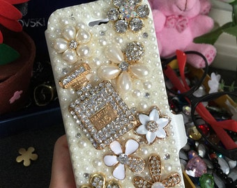New Flip Slot Cards Holder Flowers Wallet Leather Bling Luxury Lovely Fashion Crystals Rhinestones Diamonds Gems Cover Case for Mobile Phone