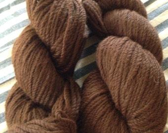 Alpaca yarn, dark brown, from Isabel