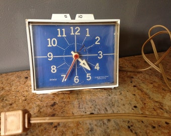 Vintage Westclox Electric Clock  Blue Clock