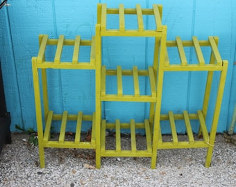 Vintage Chartreuse Wooden Shelves****Read Lisitng Before Purchasing