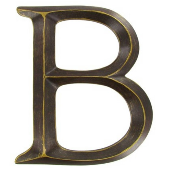 Wall Decor Metal Numbers : Bronze letters wall metal decor by letteredwhimsy