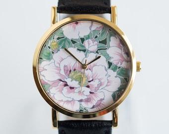 Women's Watch * Wrist Watch * Flower Watch * Designer's Watch * Pink Peony
