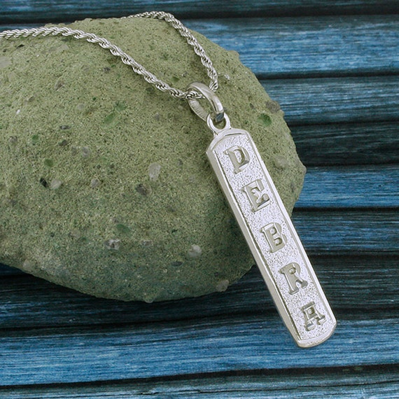 Egyptian Cartouche Necklace: Egyptian Cartouche Arabic Nameplate Monogram Necklace