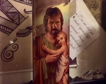 St Chuck Norris Prayer Candle