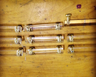 Acrylic lucite mid century modern vintage drawer pulls hardware