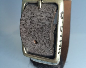 Leather dog collar for large dog
