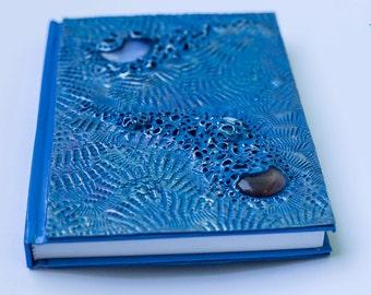 Galaxy sea - polymer clay journal.