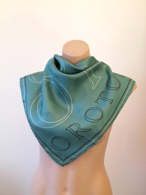80s 90s oroton signature scarf rolled silk silk scarf