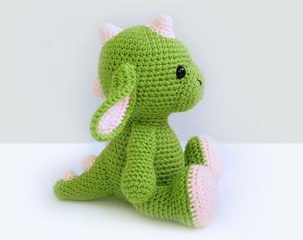 Green Dragon Amigurumi Pattern : Dragon crochet Etsy