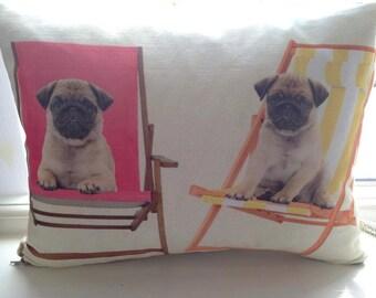 Pug, Pug Print Cushion, Pug Cushion, Dog Cushion