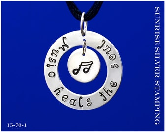 Silver Music Necklace Pendant Sterling Silver Jewelry Music Note Jewelry Music Therapy Necklace Pianist Jewelry Gift for Musician under 50