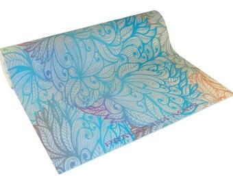 El Baile Azul Crisantemos Custom Designed Yoga Mat