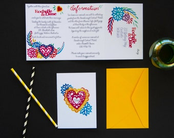 Tear Away Fiesta Invitations