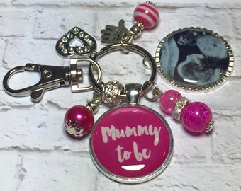 Baby scan keyring, baby scan keychain, sonograph photo gift, baby scan gift, baby scan photo, mummy to be