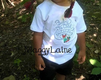 Baby its cold outside Embroidered tee girl or boys