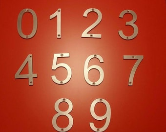 Metal House Numbers and Letters (Without Mounting Holes)