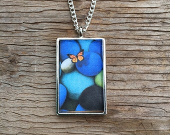 Butterfly on the Stones Pendant Necklace