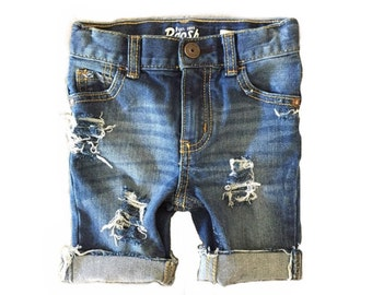 "The ""Farm Hand"" Distressed Denim Shorts"
