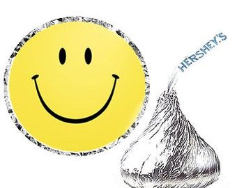 Smiley Face Birthday Party Favor Hershey's Kisses Stickers / Labels -216ct