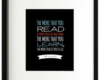 Dr. Suess Quote Wall Art