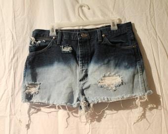 Wrangle Dip Dyed High Waisted Shorts