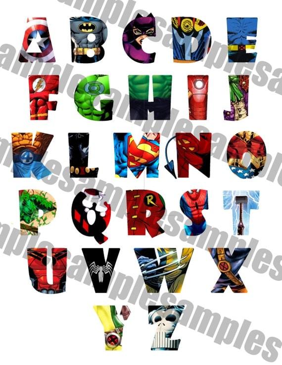 Printable Letters Of The Alphabet Superhero